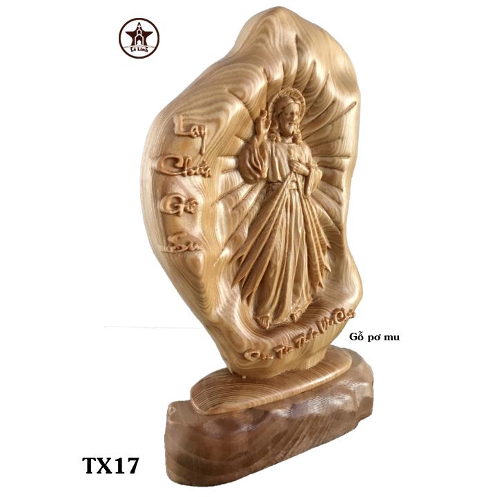 Tượng gỗ Công Giáo TX17